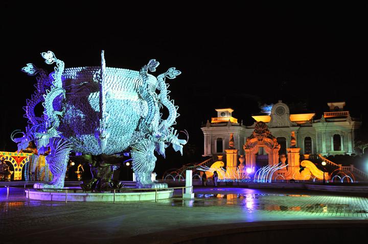 p>珠海夜景 圆明新园灯会 /p> p>015