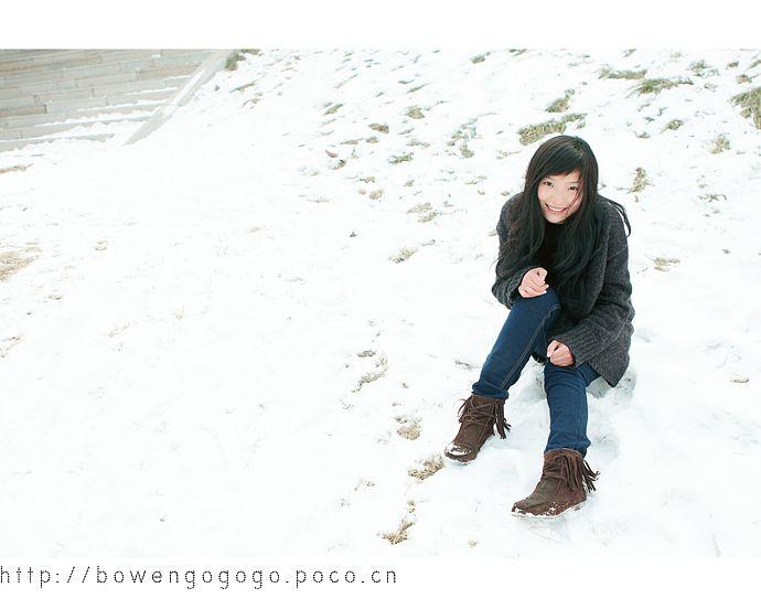 雪天拍美女 潍坊专区