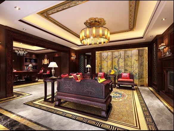 中式古典风别墅装修图