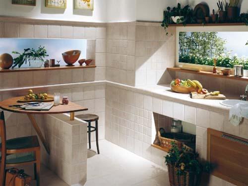 2012厨房瓷砖铺装效果图大全