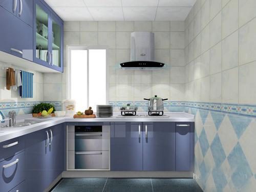 简欧风格l型厨房装修效果图大全2014图片欣赏   l型厨房装