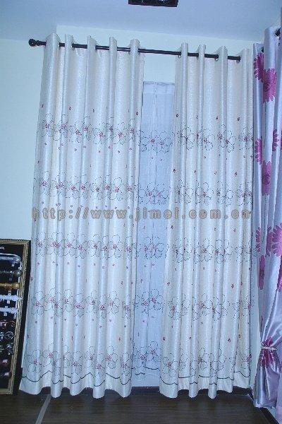欧式蓝色窗帘花纹贴图