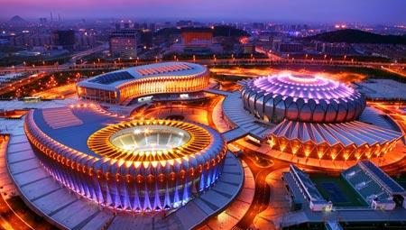 济南奥体中心之夜