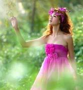 树丛中仙女
